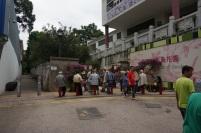 L'entrée du marché des oiseaux