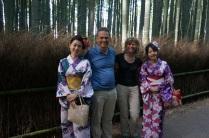 Des filles en Kimono qui nous ont demandé de se faire poser