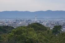 Une vue sur la ville de Kyoto
