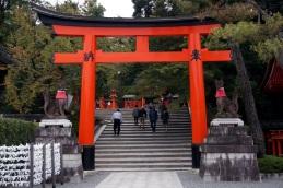 Le Torii à l'entrée du Temple