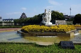 Un parc près du chateau