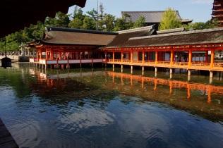 Le temple en face du Torii