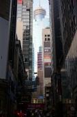 Les rues ressemblent à des canyons