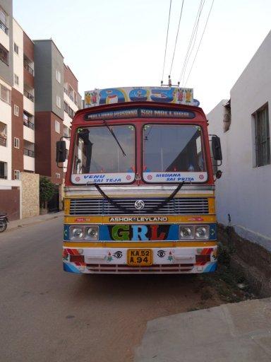 Un camion tout décoré