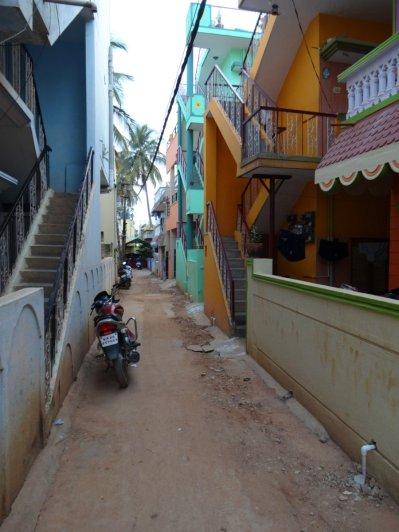 Les maisons sont colorées