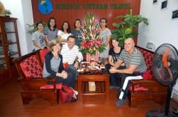 Le groupe et l'agence qui organise notre voyage