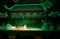 Le spectacle de marionnettes sous l'eau