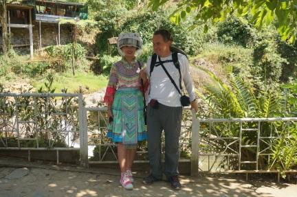 Une touriste costumée