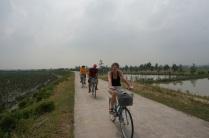 Le groupe en vélo