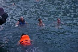 Une petite baignade pour certains