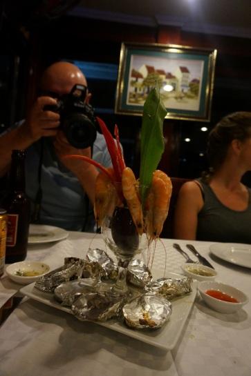 Un cocktail de crevettes pour commencer le souper