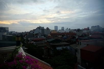Lever de soleil sur Hanoi