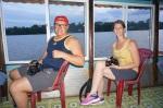 Richard et Nathalie dans le bateau