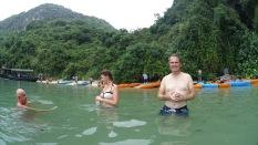 Une baignade (la première de l'année)