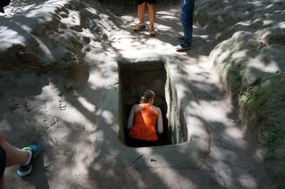 Arrivé à Co Chi, on regarde les tunnel
