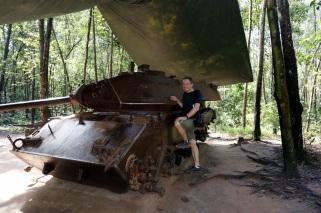 Un tank américain détruit par les vietnamiens