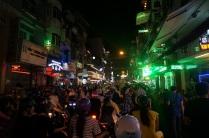 La marée humaine dans la rue