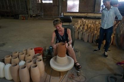 Petit arret pour faire de la poterie