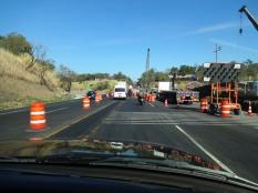 Le pont qui génère un ralentissement du traffic sauf tôt le dimanche semble-t'il