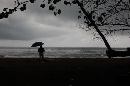 La mer est agitée