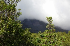 Le volcan toujours couvert