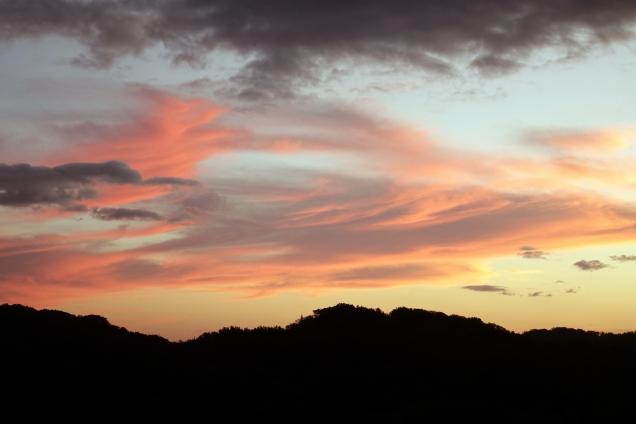 Un merveilleux coucher de soleil