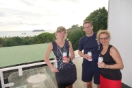 La vue de notre balcon avec notre cerveza