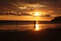 Le coucher de soleil est splendide