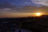 Lever de soleil sur Las Vegas tel que vu de notre chambre