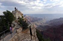 D'ici on voit l'immensité du Canyon
