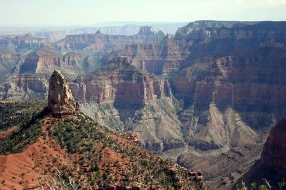 Nous sommes au point le plus haut du Grand Canyon, une autre perspective