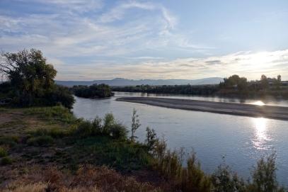 La vue de rivière de Green River