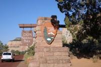 On rentre à Zion, même l'asphalte est rouge