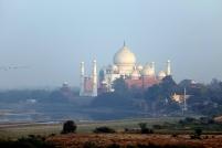 Vue du Taj Mahal à partir du Fort