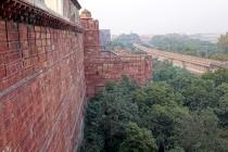 La palissade est fait de grès rouge d'ou son nom de fort rouge