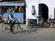 On peut même faire du vélo en Inde
