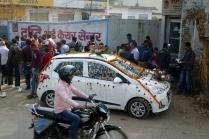 Un auto pret pour un mariage