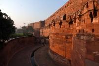 Les palissade du fort d'Agra