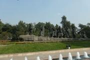 Une sculpture de la marche du sel de Gandhi