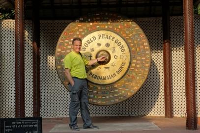 Le gong de la paix (C'est sûr qu'on se fait remarquer si on le frappe dans un lieu si calme)