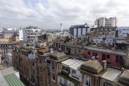 La vue de Casablanca de notre hôtel