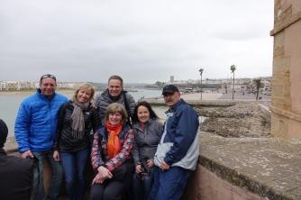 Comme vous le voyez sur cette photos de notre groupe, le thermomètre n'est pas à son maximum
