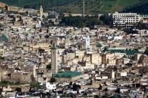 Vue rapprochée de la ville qui est le site de la première université au monde