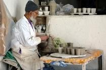 Arrêt dans une poterie