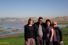 La photo de notre guide et de nos 3 gazelles (terme utilisé au Maroc pour les dames)