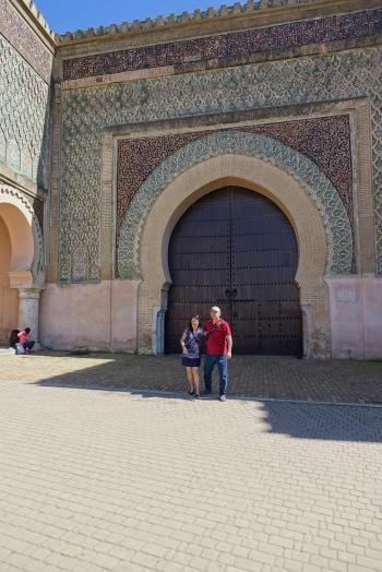 La porte de la ville de Meknès
