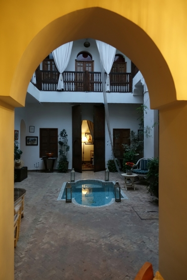 La vue de notre chambre au Riad