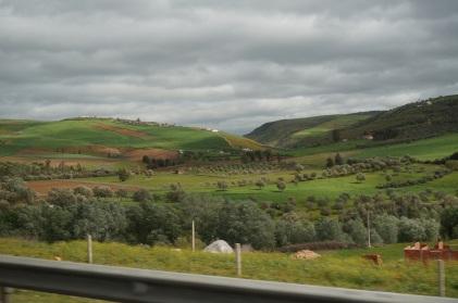 Paysage du Maroc en route vers Fês