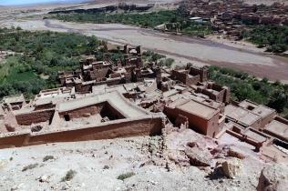 La Casbah vue du haut, 5 familles y habitent encore