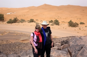 A la frontière des dunes de sable
